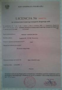 licencja naprzewóz osób