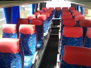 wnętrze busa dowynajęcia