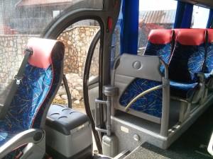 wnętrze mikrobusa