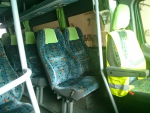 miejsca pasażereskie w autokarze